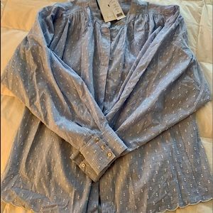 Joie chambray embroidered blouse